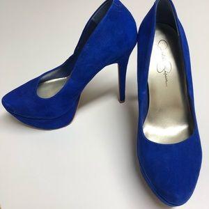 Blue Jessica Simpson heels